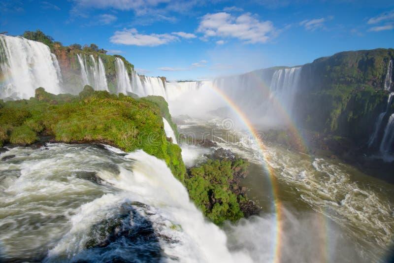 伊瓜苏瀑布,福兹国立公园做伊瓜苏,巴西 免版税图库摄影