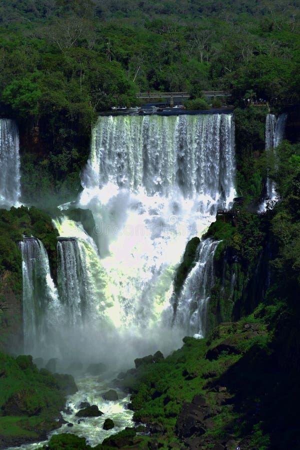 伊瓜苏主要瀑布  库存照片