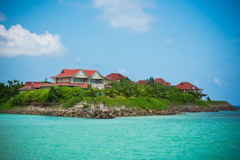 伊甸园海岛塞舌尔群岛 免版税库存照片