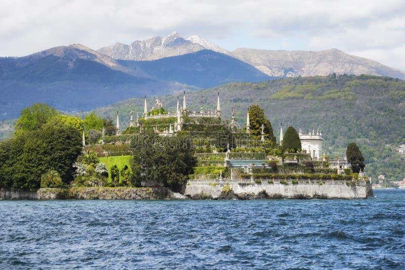 伊索拉贝利亚,马焦雷湖的著名海岛 斯特雷萨,意大利 库存照片