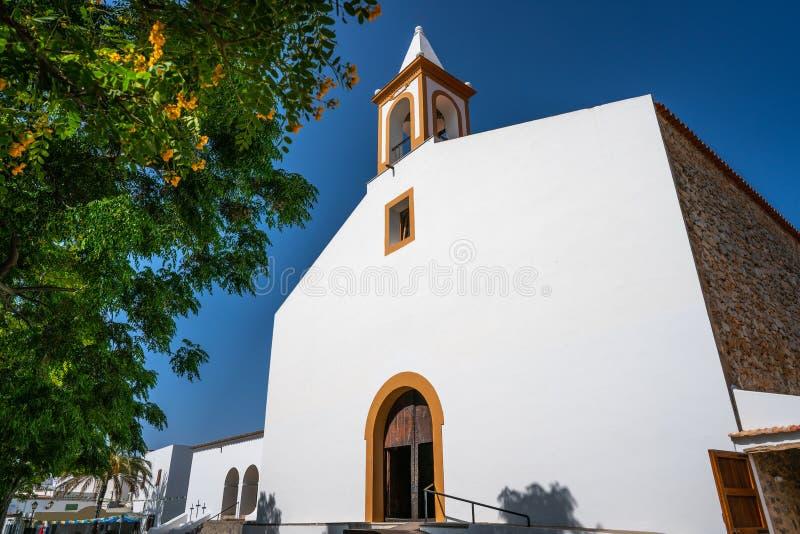 伊维萨岛圣胡安包蒂斯塔在巴利阿里群岛 免版税库存照片