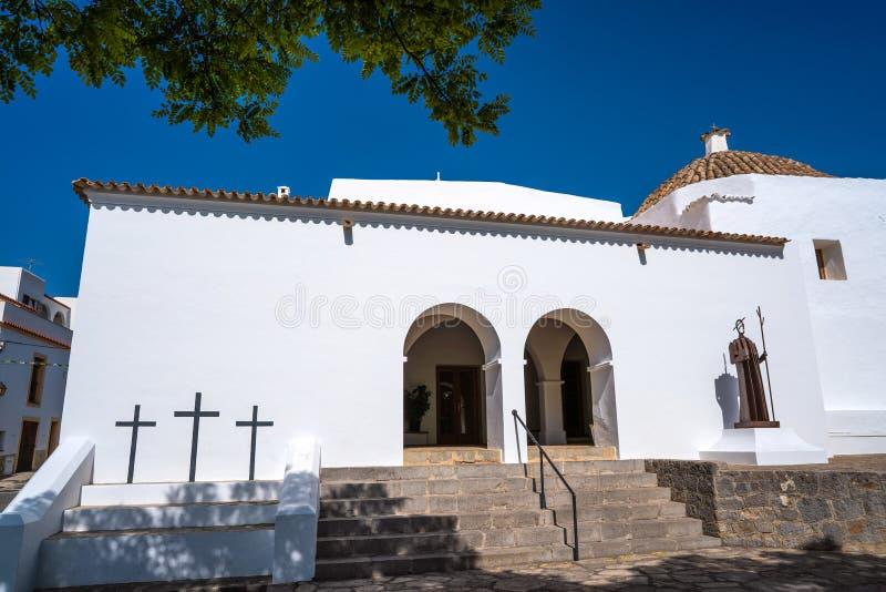 伊维萨岛圣胡安包蒂斯塔在巴利阿里群岛 免版税库存图片