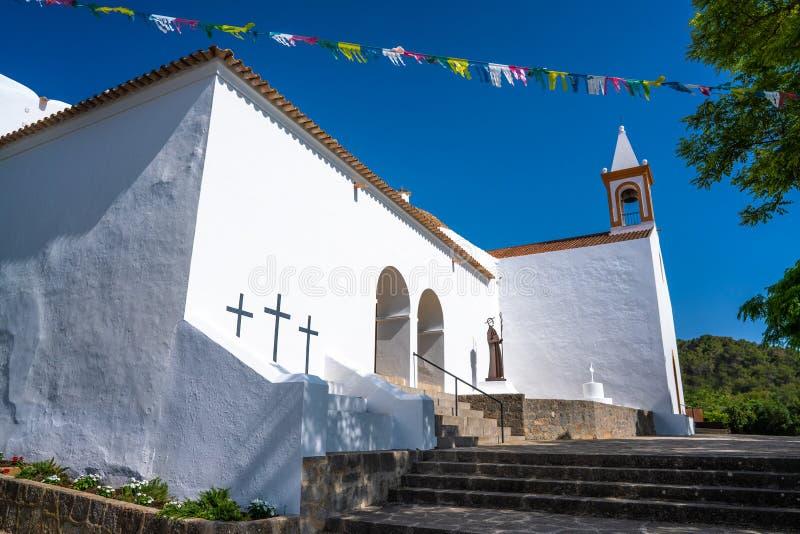 伊维萨岛圣胡安包蒂斯塔在巴利阿里群岛 库存图片