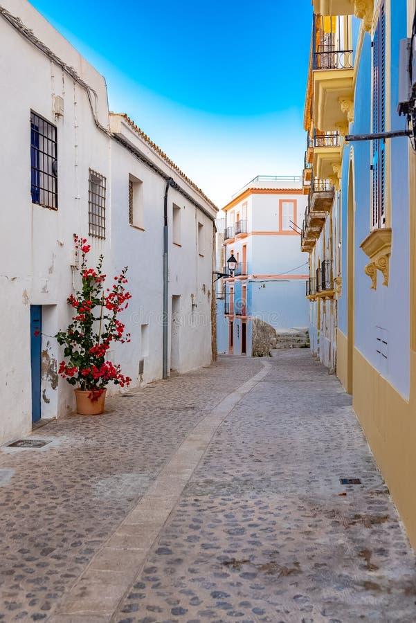 伊维萨岛,Eivissa街道  图库摄影