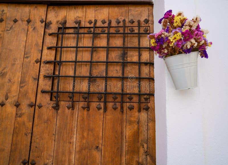 伊维萨岛Eivissa街市Dalt维拉门面 免版税库存照片