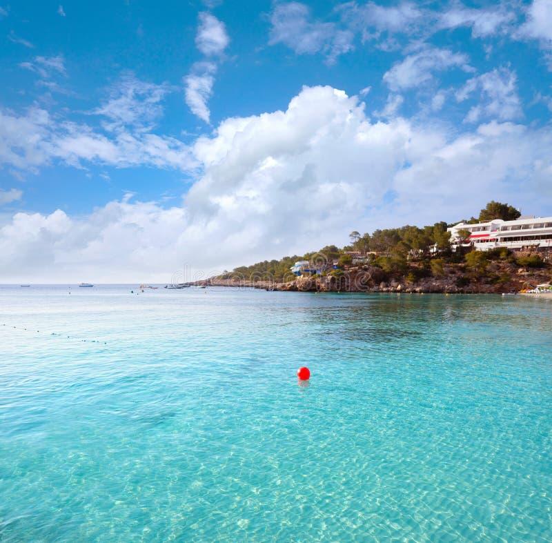 伊维萨岛Portinatx阿雷纳尔Gran海滩在Balearics 免版税库存图片