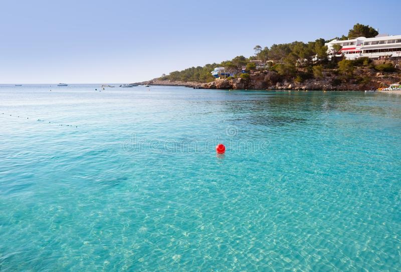 伊维萨岛Portinatx阿雷纳尔Gran海滩在Balearics 库存照片