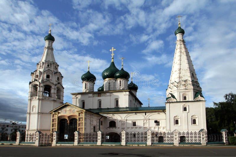 伊莱贾教会先知,建造白色石头在XVII世纪 库存照片