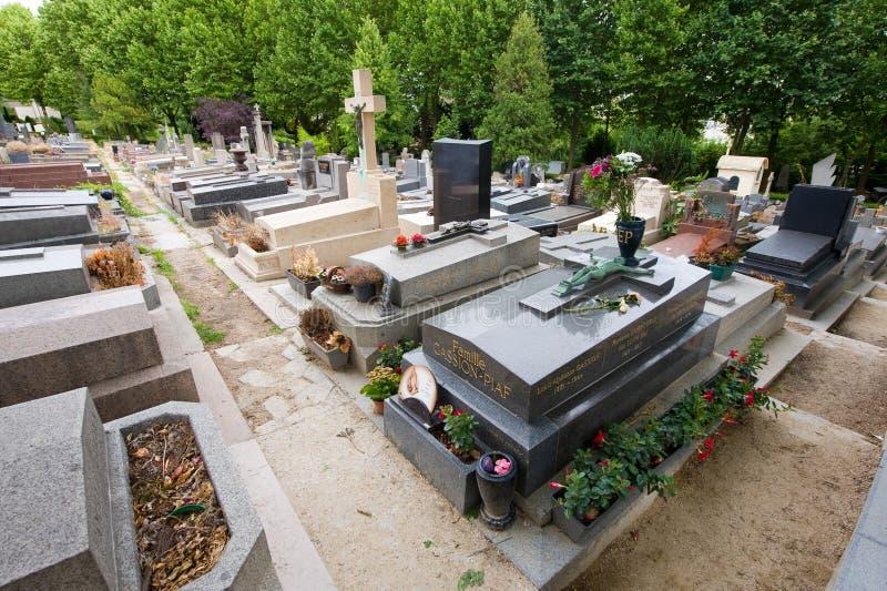伊迪丝Piaf坟墓  库存图片
