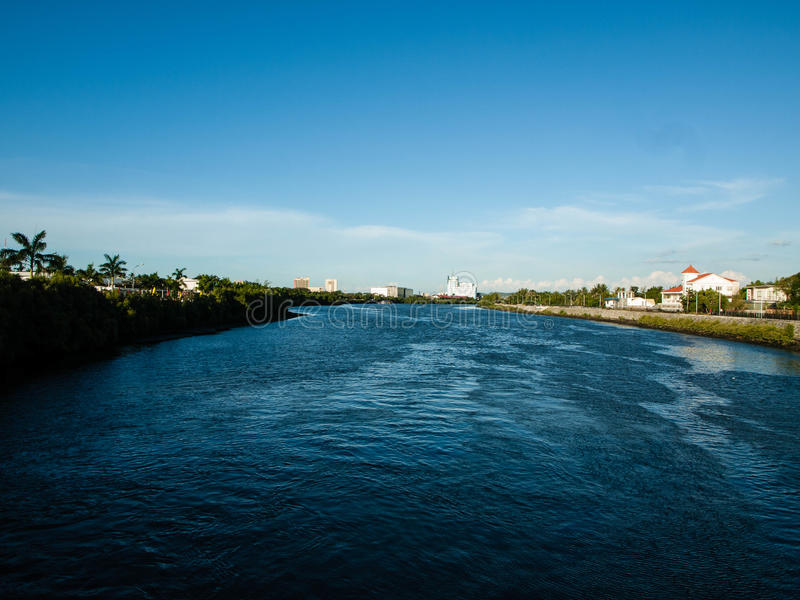 伊洛伊洛省菲律宾河 免版税库存图片