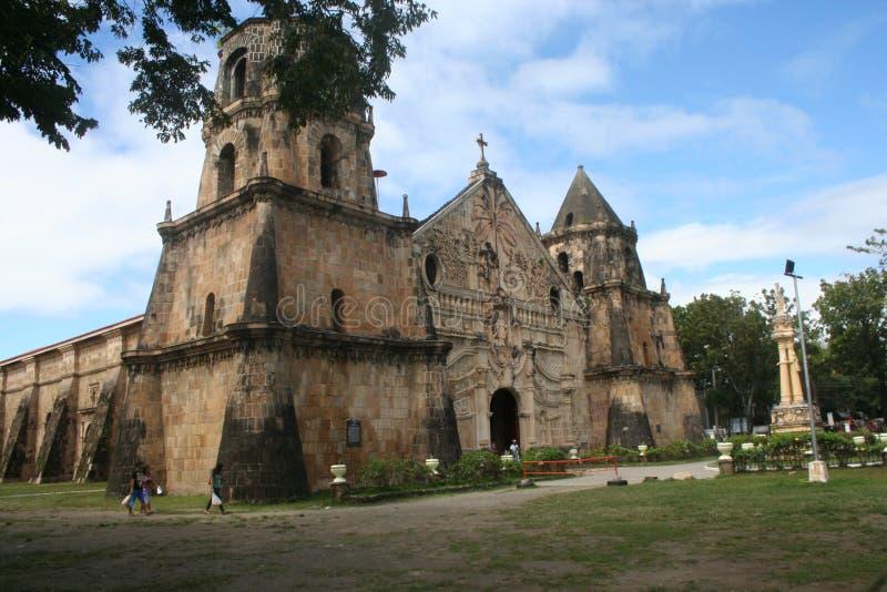 伊洛伊洛` s最旧的教会 库存图片