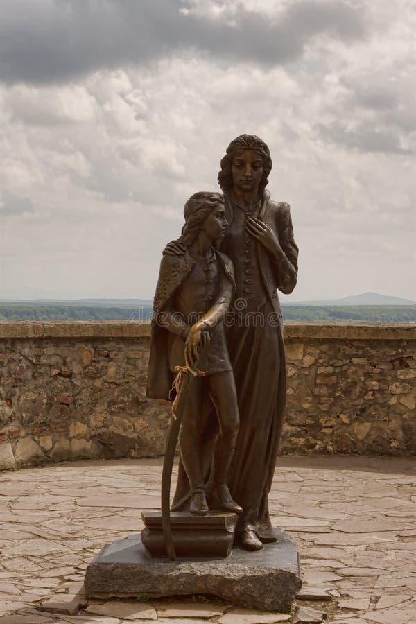 伊洛娜Zrini和费伦茨Rà ¡ kà ³ czi II 免版税图库摄影