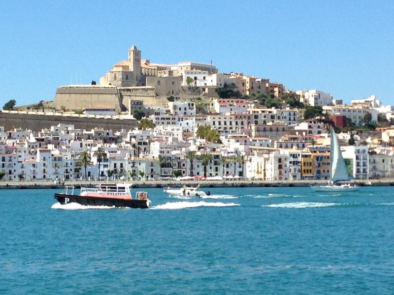 伊维萨岛市西班牙 库存照片