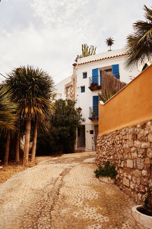 伊维萨岛拜雷阿尔斯西班牙老镇 免版税库存照片