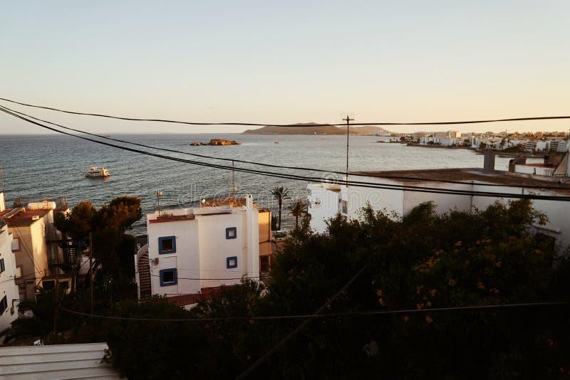 伊维萨岛拜雷阿尔斯西班牙老镇 库存图片