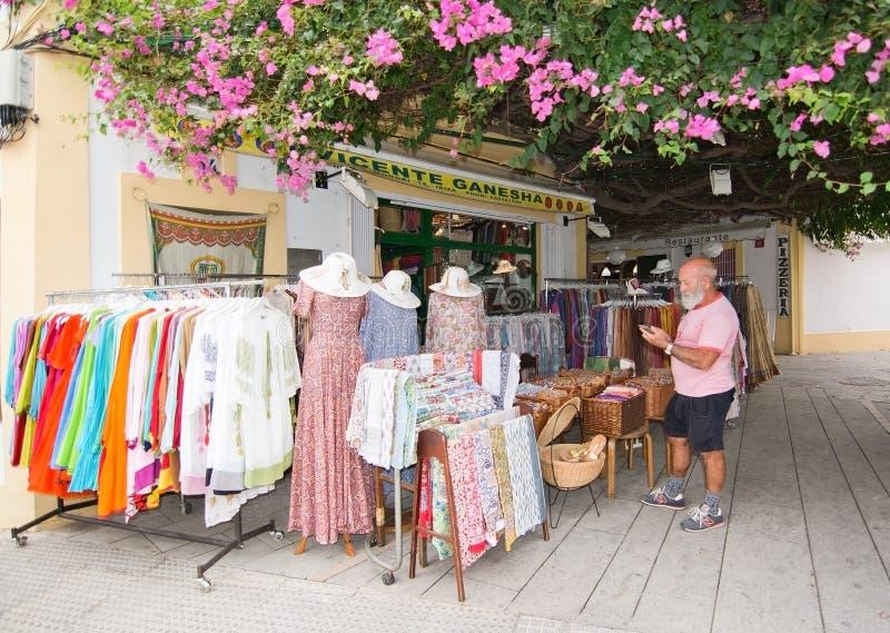 伊维萨岛文森特Ganesha商店 免版税库存照片