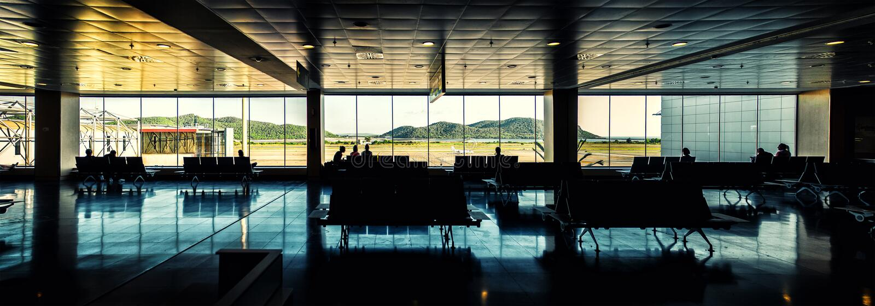 伊维萨岛机场休息室 库存照片