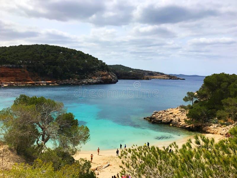 伊维萨岛` s海滩 免版税库存图片