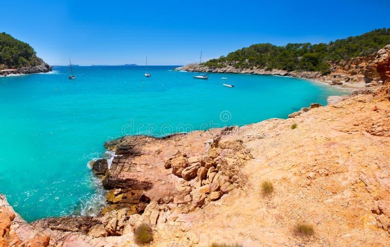 伊维萨岛cala Saladeta在拜雷阿尔斯的圣安东尼奥Abad 免版税库存图片