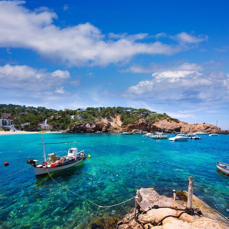 伊维萨岛Cala Vedella Vadella在Balearics的圣何塞 库存图片