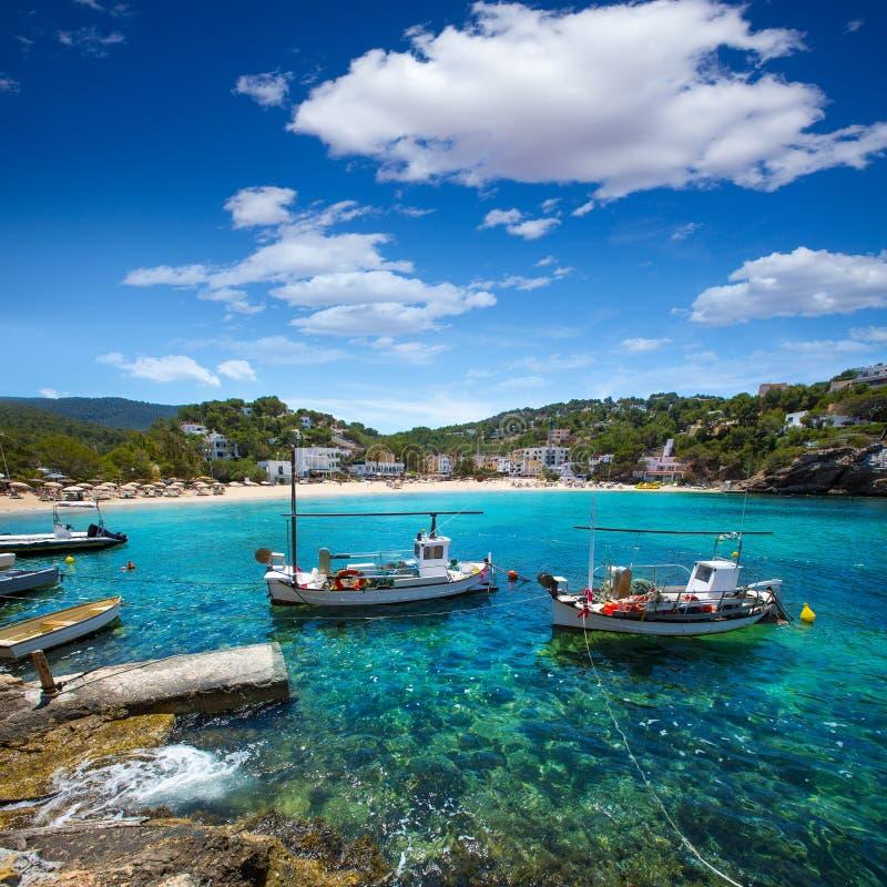 伊维萨岛Cala Vedella Vadella在Balearics的Sant何塞普 库存照片