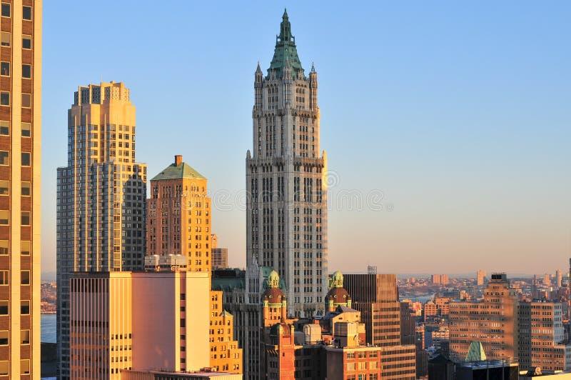 伍尔沃思大厦-纽约 库存照片