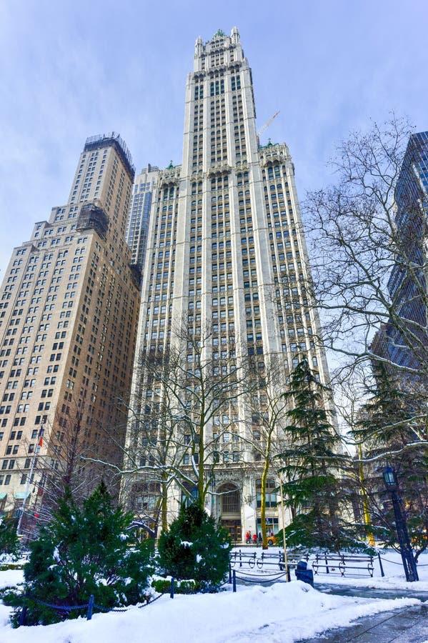 伍尔沃思大厦-纽约 图库摄影