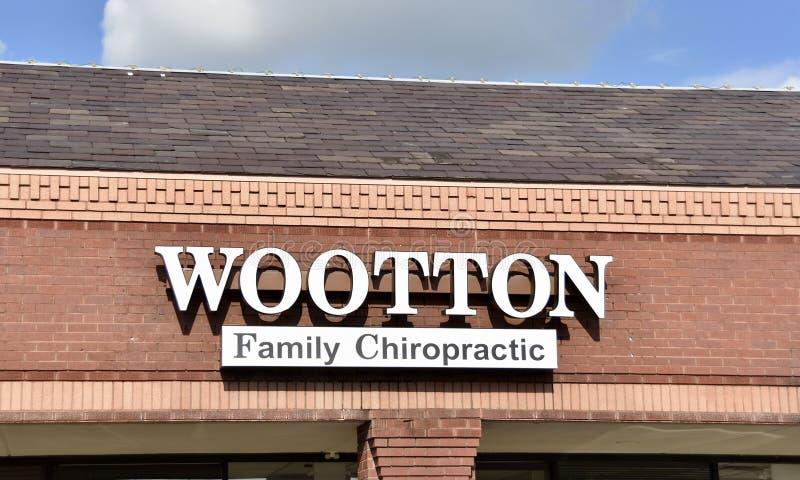 伍顿家庭按摩脊柱治疗者,科多瓦省,TN 库存图片