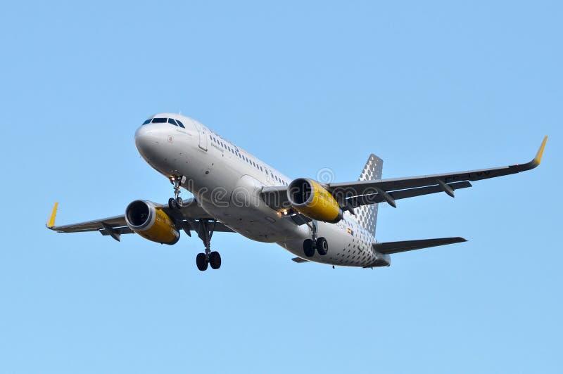 伏林航空在天空中 库存图片