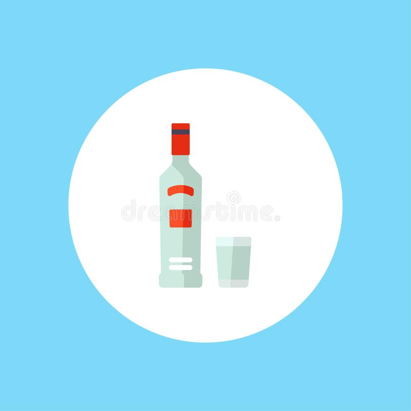 伏特加酒传染媒介象标志标志 库存例证