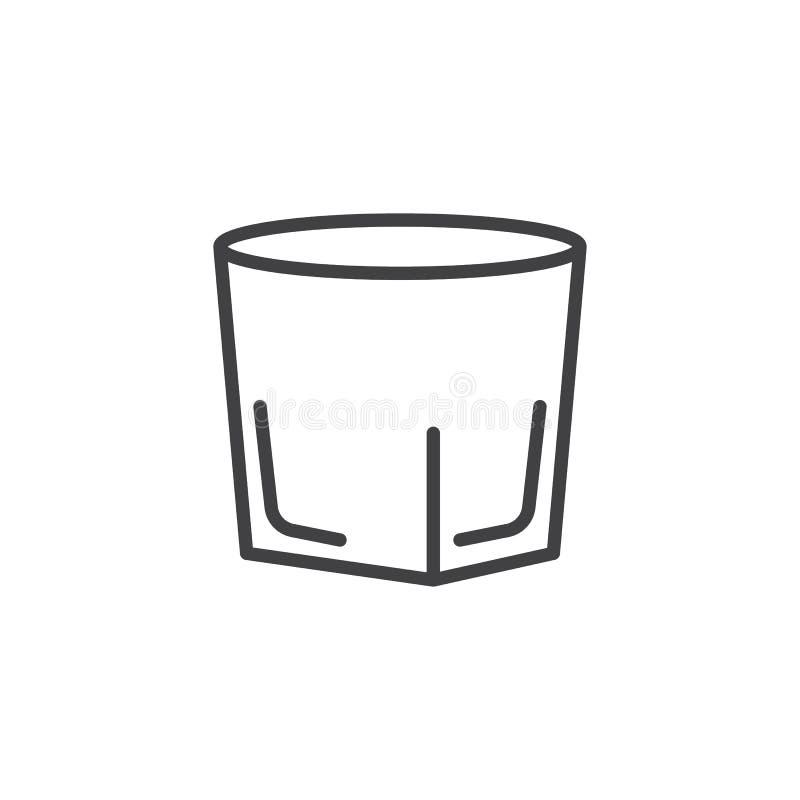 伏特加酒小玻璃线象 向量例证
