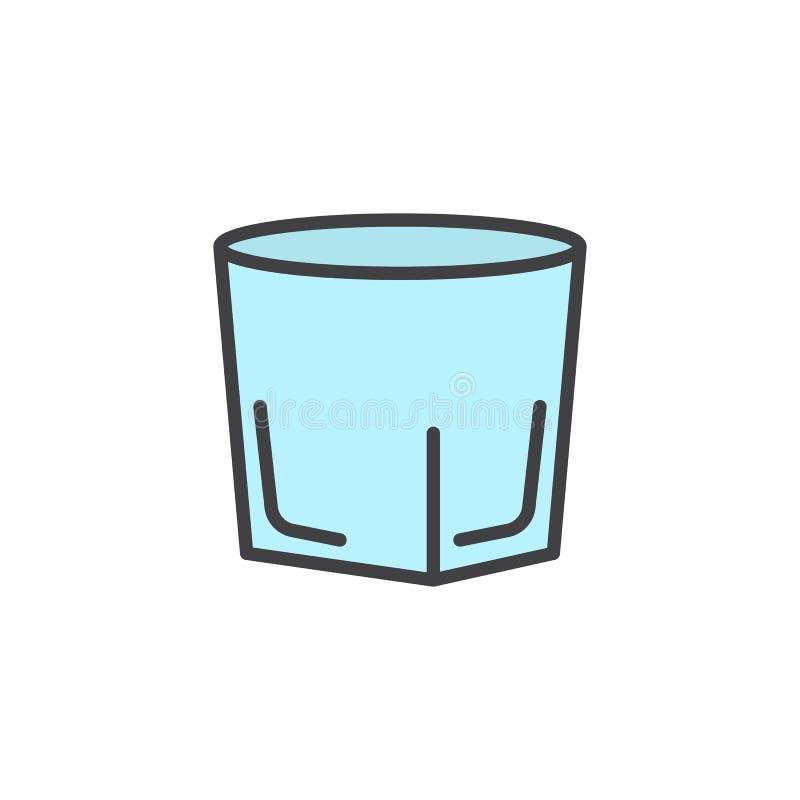 伏特加酒小玻璃被填装的概述象 皇族释放例证
