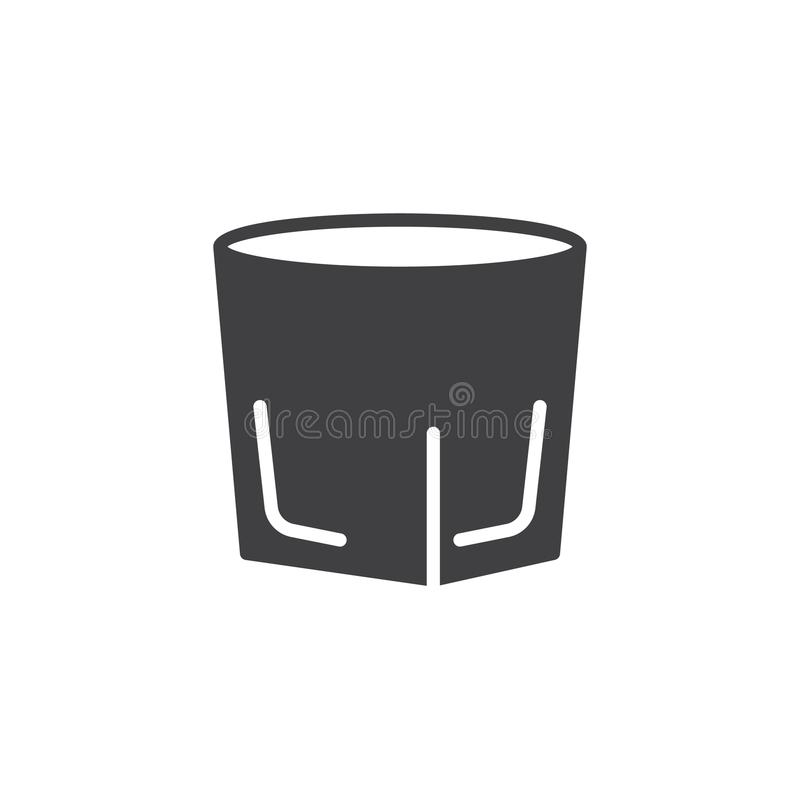 伏特加酒小玻璃象传染媒介 向量例证
