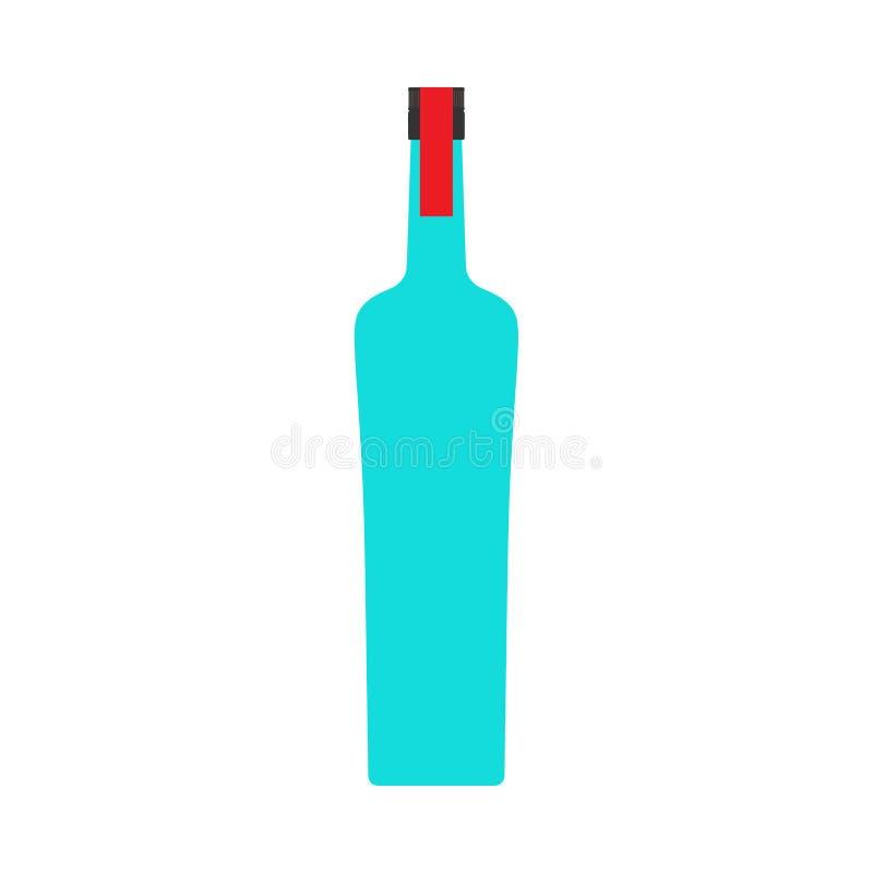 伏特加酒瓶液体客栈酒精特写镜头传染媒介标志象 玻璃产品饮料商店 向量例证