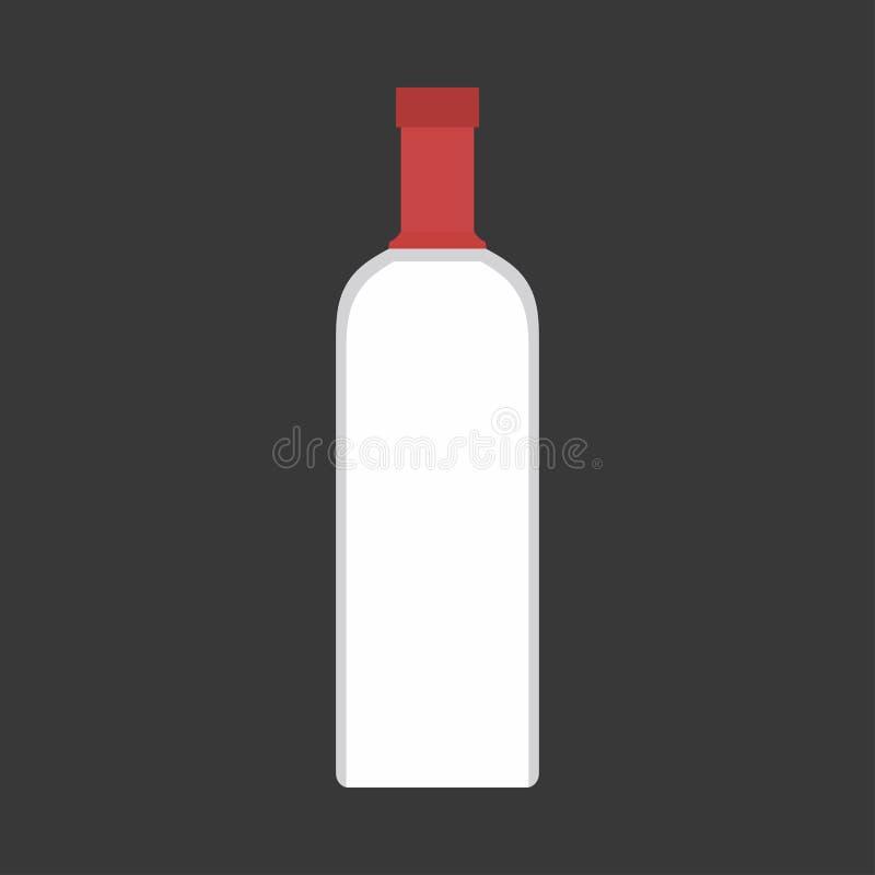 伏特加酒瓶液体客栈酒精特写镜头传染媒介标志象 玻璃产品饮料商店 库存例证