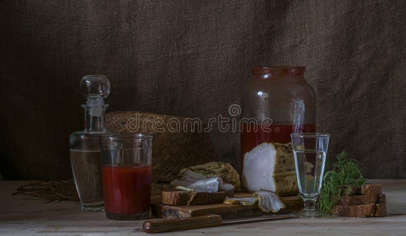 伏特加酒用西红柿汁 免版税库存图片