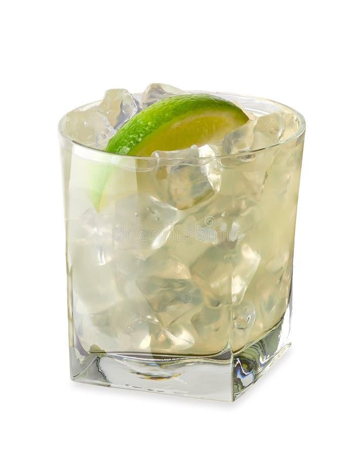 伏特加酒石灰、手钻或者杜松子酒补品 免版税库存图片