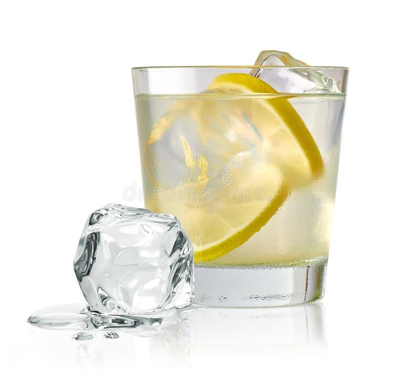 伏特加酒石灰、手钻或者杜松子酒补品 库存图片