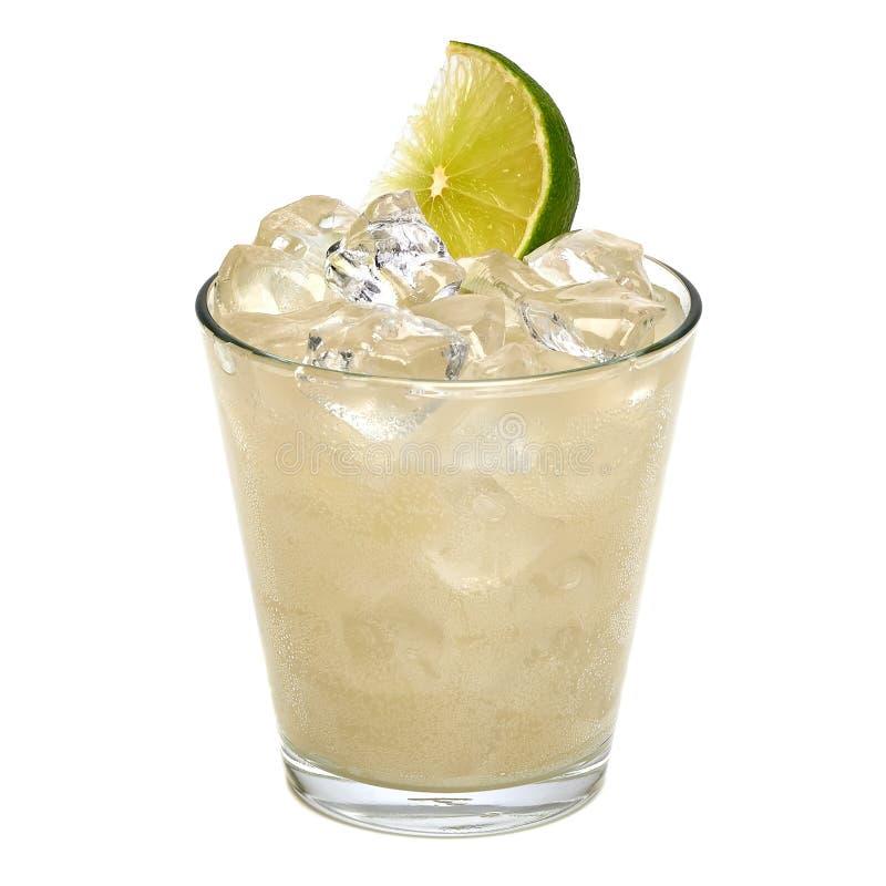 伏特加酒石灰、手钻或者杜松子酒补品 免版税库存照片