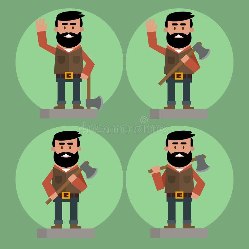 伐木工人具体化被设置 皇族释放例证