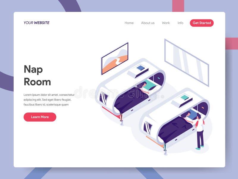 休息室例证概念登陆的页模板  网页设计的等量设计观念网站和流动网站的 向量例证