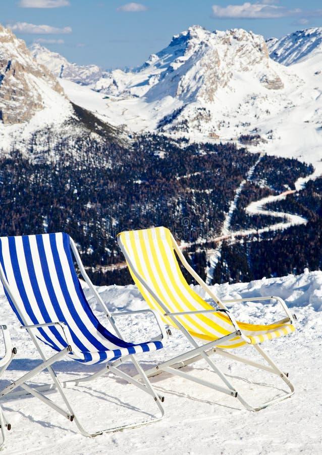 休息室滑雪 免版税库存照片