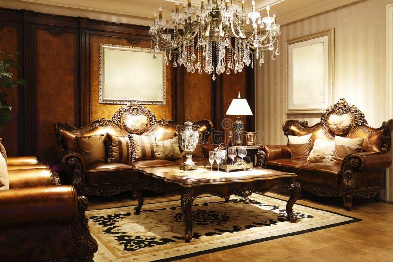 休息室的典雅式样 免版税库存图片