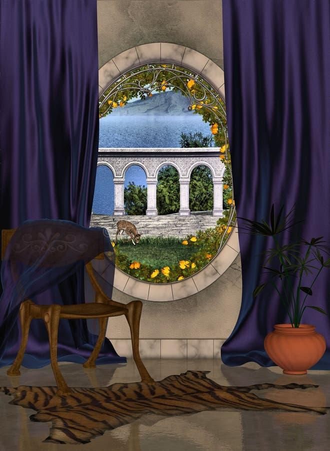 休息室视窗 皇族释放例证