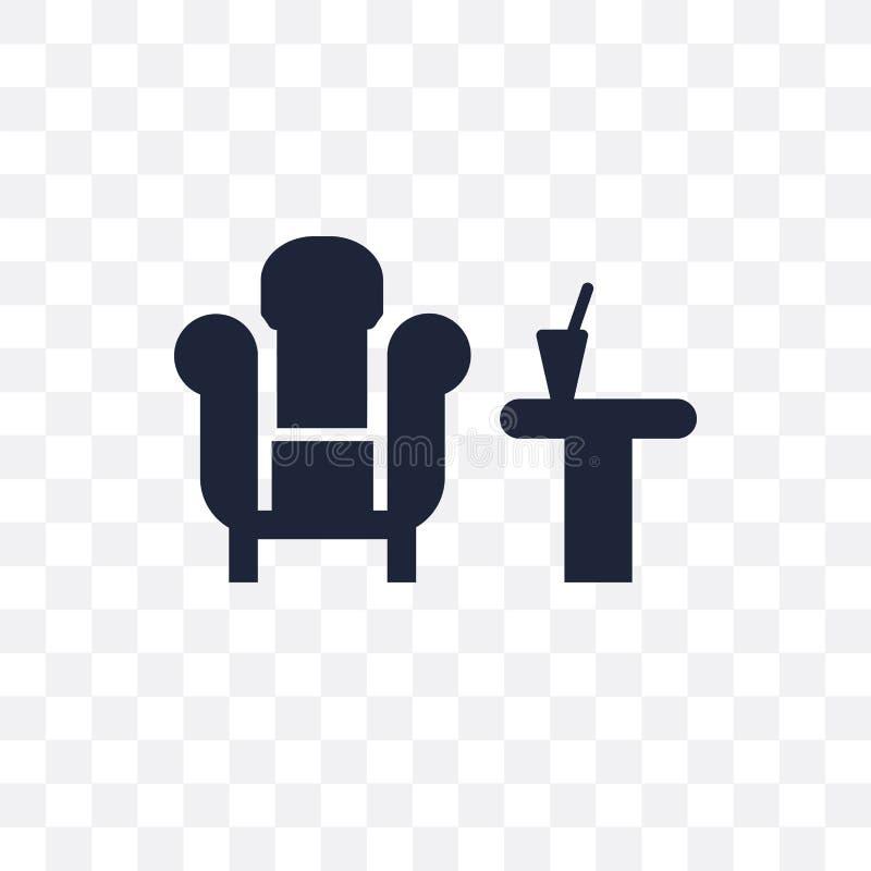 休息室透明象 休息室从旅馆的标志设计收集 库存例证