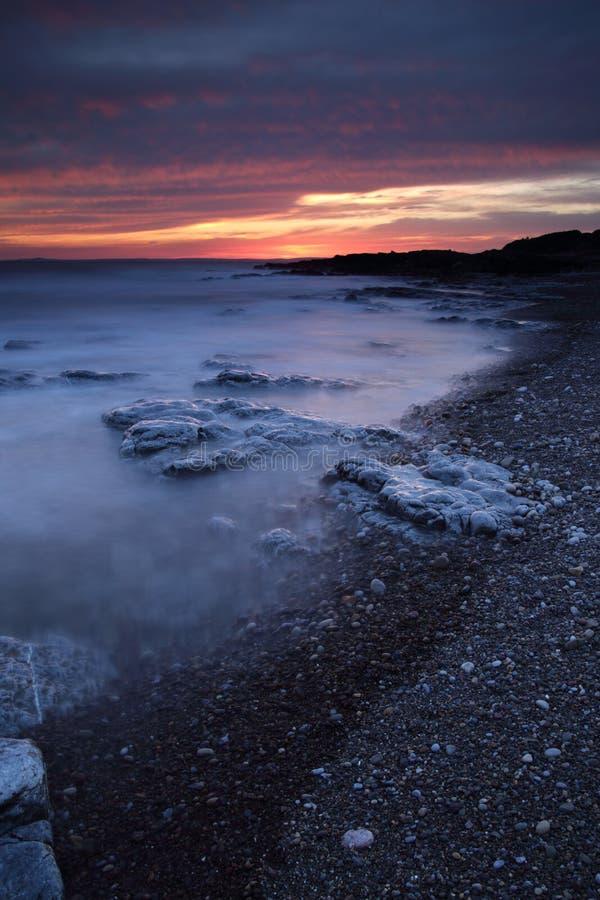 休息海湾,波斯考尔,南威尔士 图库摄影