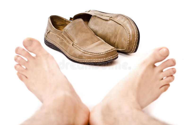 出去鞋子! 免版税库存照片