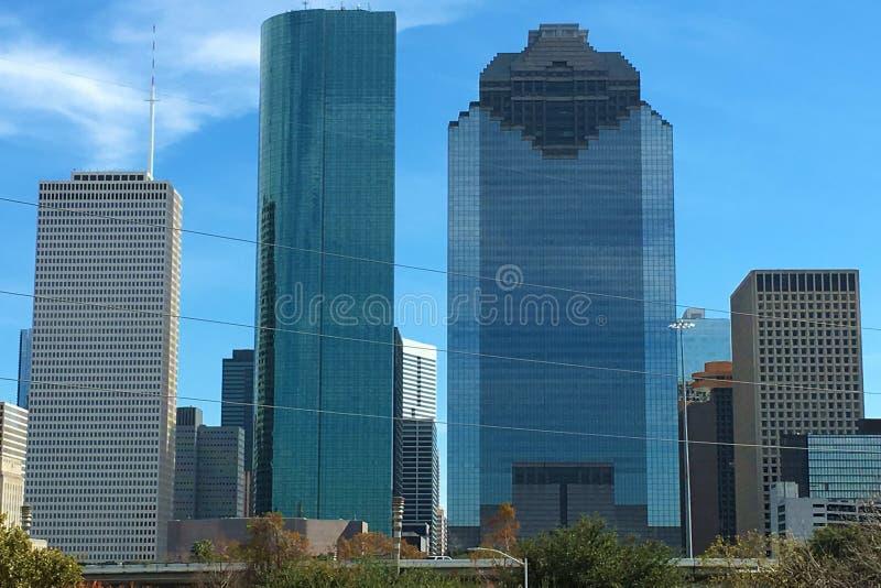 休斯敦地平线的接近的看法 库存图片
