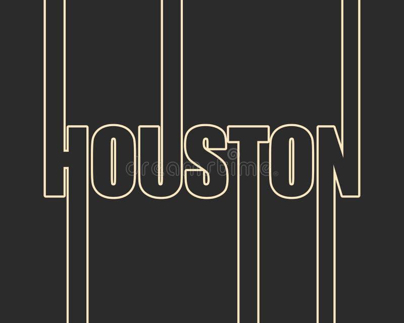 休斯敦市名字 向量例证