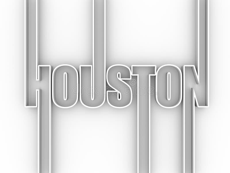 休斯敦市名字 皇族释放例证